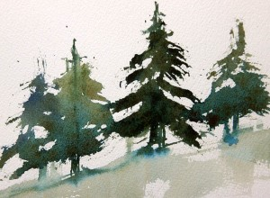 Fir tree painting